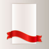 Red ribbon template. Stock Photos