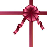 Red ribbon  template Royalty Free Stock Images