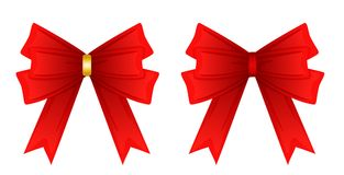 Red ribbon tied in a bow, Stock Photos