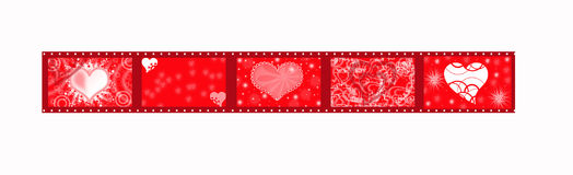 Red ribbon for valentine Stock Images