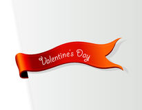 Red ribbon for Valentine's Day Royalty Free Stock Images