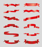 Red Ribbon Vector Royalty Free Stock Image