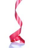 Red ribbon on white Stock Photos