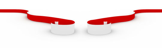 Red ribbon on white. Royalty Free Stock Photo