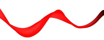 Red ribbon on a white  background Royalty Free Stock Photos