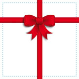 Red Ribbon White Cover Dashed Blue Cross Royalty Free Stock Image