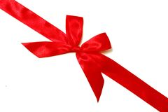 Red Ribbon With Bow Royalty Free Stock Images