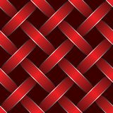 Red ribbon woven. Pattern seamless texture vector illustration background Stock Photos