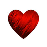 Red Ribbon wrapped around a heart - Valentine Royalty Free Stock Photo