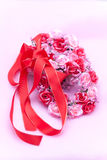 Red ribbon and a Wreath Stock Images