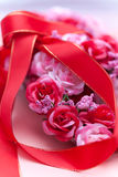 Red ribbon and a Wreath Royalty Free Stock Photo