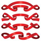 Red ribbons Stock Photo