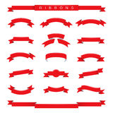 Red ribbons Royalty Free Stock Images