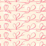 Red ribbons. Seamless pattern with red ribbons Royalty Free Stock Images
