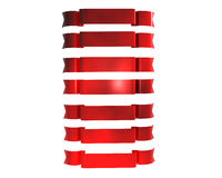 Red ribbons. 3d Illustration of seven red ribbons Royalty Free Stock Photos