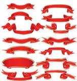 Red ribbons Stock Photos