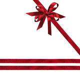 Red Ribbons and Bow Royalty Free Stock Photo