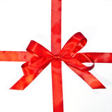Red ribbons and bow Royalty Free Stock Image