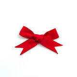 Red ribbons. Red ribbons bow on a white background Stock Photos