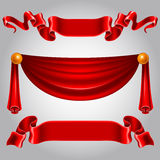 Red ribbons Stock Images