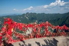 Red ribbons and golden padlocks Royalty Free Stock Photos