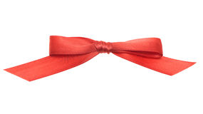Red ribbons isolated on white background Royalty Free Stock Photos