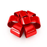 Red ribbons over white background Stock Image