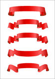 Red ribbons Royalty Free Stock Photography