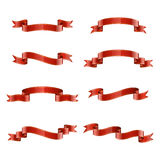 Red ribbons Stock Photography