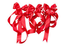 Red ribbons Stock Photos