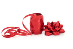 Red Ribbow and Bow Royalty Free Stock Photo