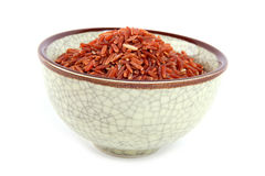 Red rice. Bowl of red rice from Thailand Royalty Free Stock Photography