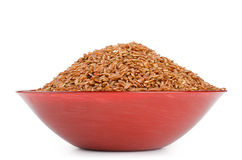 Red rice in a bowl Stock Image