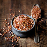 Red rice in a bowl Royalty Free Stock Photo