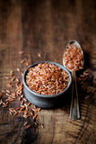 Red rice in a bowl Royalty Free Stock Photography