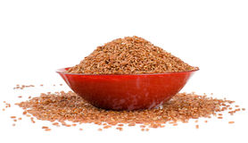 Red rice in a brown Royalty Free Stock Images