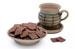 Red rice crackers, healthy, snack Royalty Free Stock Image