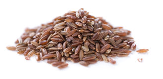 Red Rice isolated on white Royalty Free Stock Images
