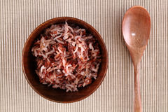 Red rice in a small ceramic dish Royalty Free Stock Images