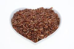 Red rice, a varity called Camargue rice. From France Royalty Free Stock Photos