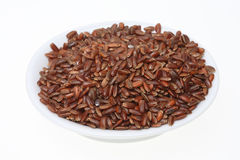 Red rice, a varity called Camargue rice. From France Royalty Free Stock Images