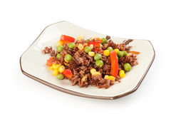Red rice with vegetables Royalty Free Stock Photography