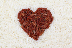 Red rice and white rice Royalty Free Stock Photo