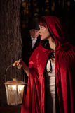 Red Riding Hood. And the big bad wolf Royalty Free Stock Photo