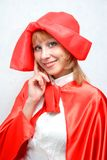 Red Riding Hood with a basket. Stock Photography