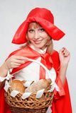 Red Riding Hood with a basket. Royalty Free Stock Photography