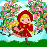 Red riding hood cartoon Stock Photo