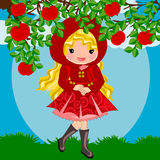 Red riding hood cartoon Royalty Free Stock Photos
