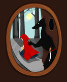 Red Riding Hood escapes Stock Photos