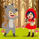 Red Riding Hood Forest Royalty Free Stock Images
